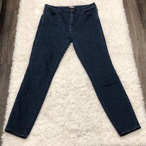 "Madewell Jeans 10"" High Riser Skinny Skinny"
